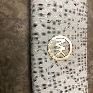 White MK wallet